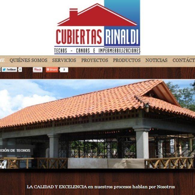Sitio Web Cubiertas Rinaldi
