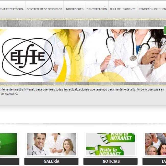 Sitio Web Hospital El Santuario