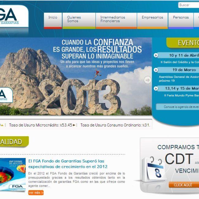 Sitio Web Fondo garantias Antioquia