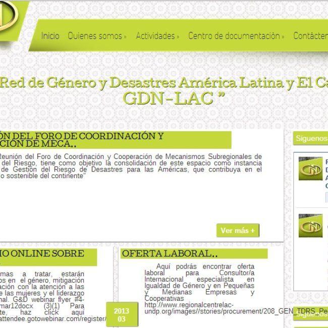 Página Web Red Género y Desastres