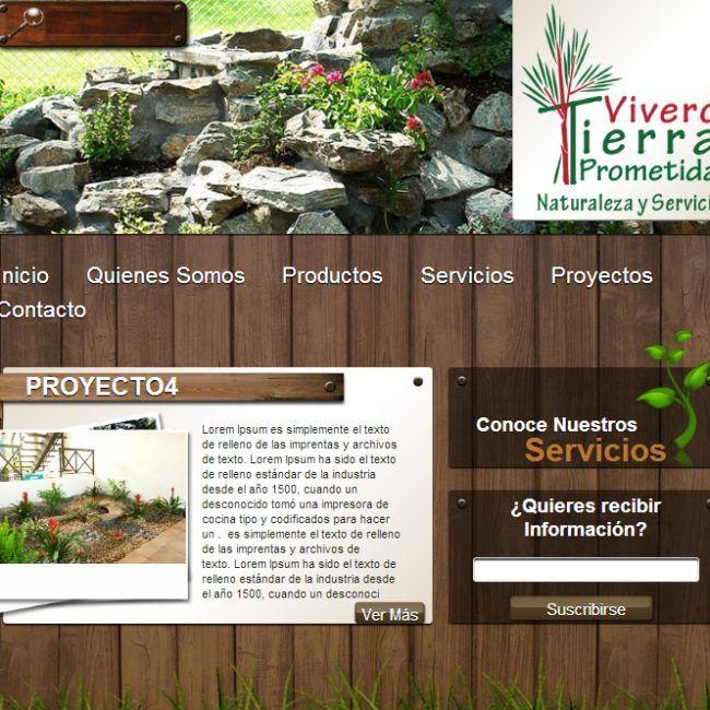 Página Web Vivero Tierra Prometida