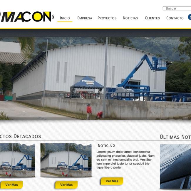 Sitio Web Constructora Omacon