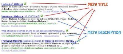 posicionamiento web meta title meta description