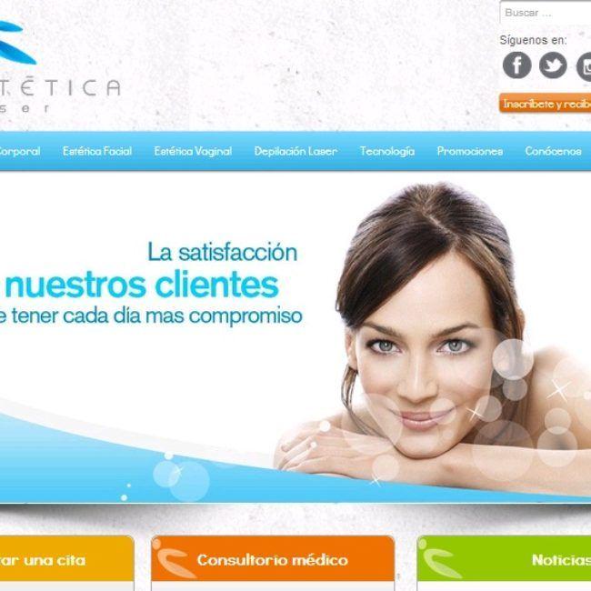 Sitio Web Ginestética Laser