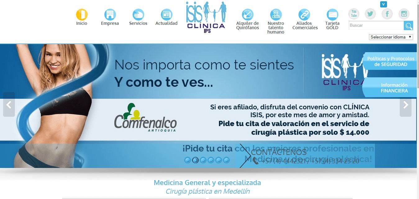 pagina web clinica isis