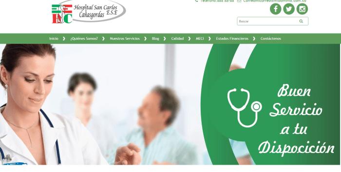 paginas web para hospitales
