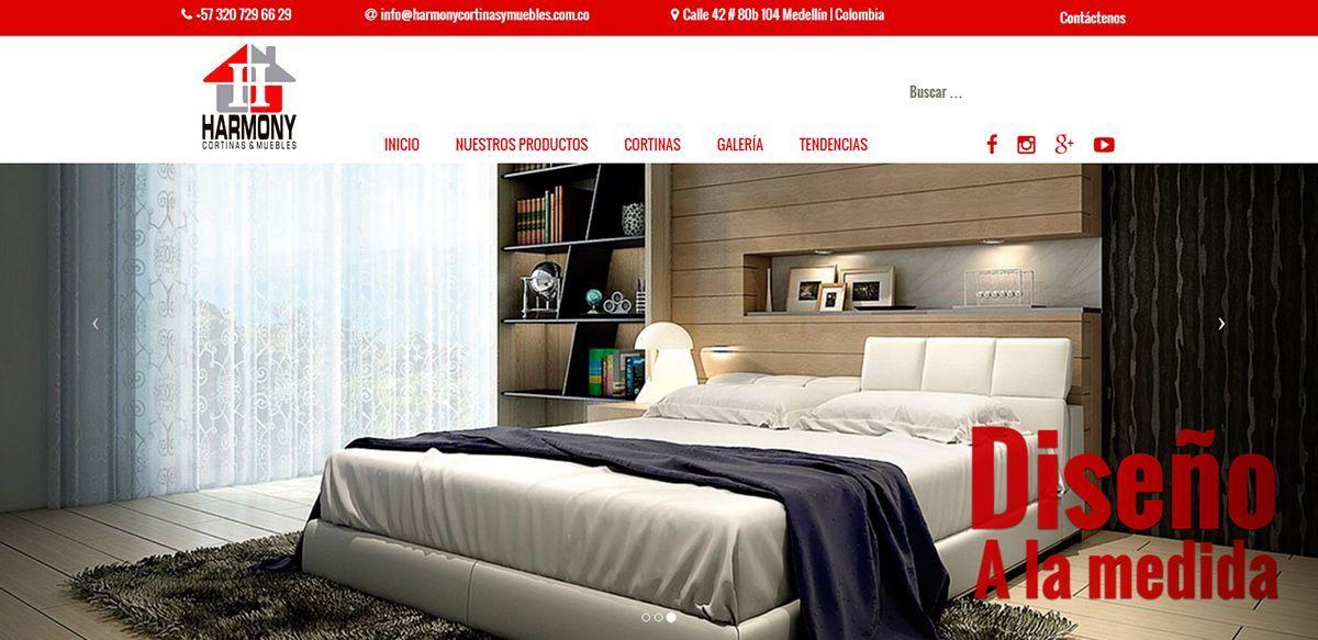 P gina web harmony muebles y cortinas s mbolo interactivo for Paginas muebles