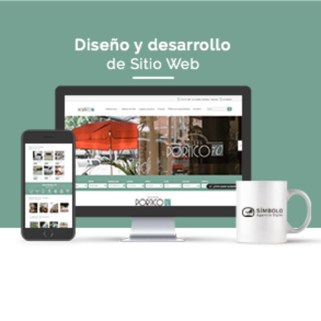 Sitio web Hotel Pórtico 70