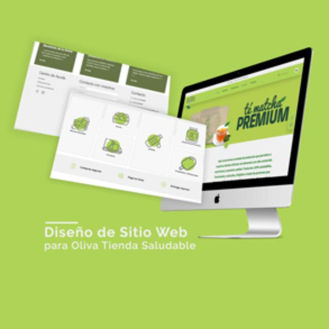 Sitio web Oliva Tienda Saludable